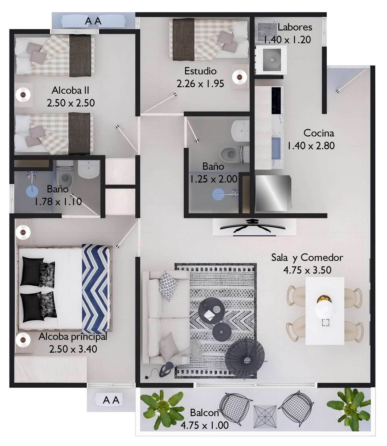 planos carolina del mar iii apartamentos en cartagena tu casa proyectos